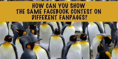 How can you show the same Facebook contest on two different Fanpages?