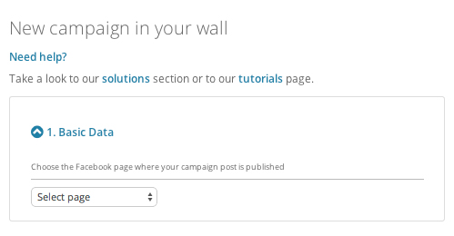 Provide the Facebook page you have used to post your wall competition