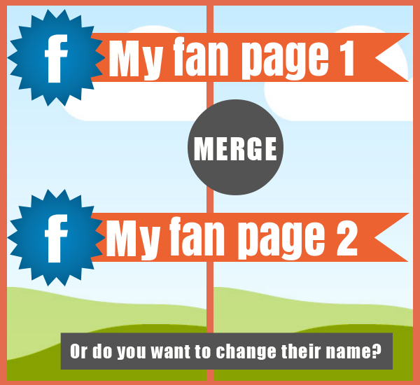 Can I change the name of my Facebook Page or merge it into another page?