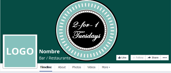 Use the cover photo to advertise a promotion