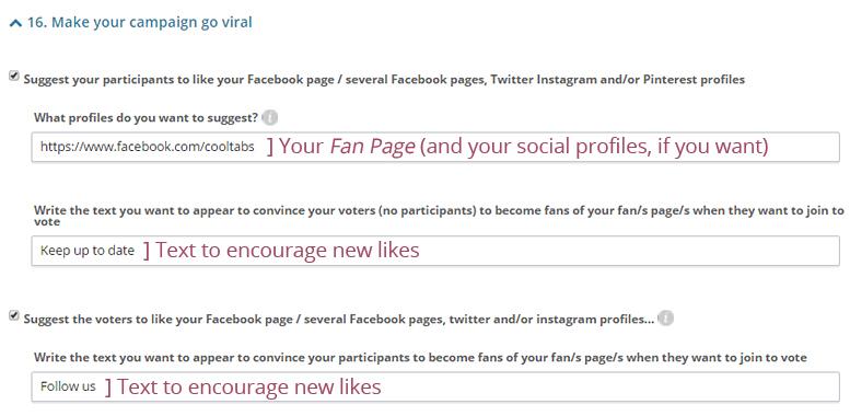 Suggest social profiles