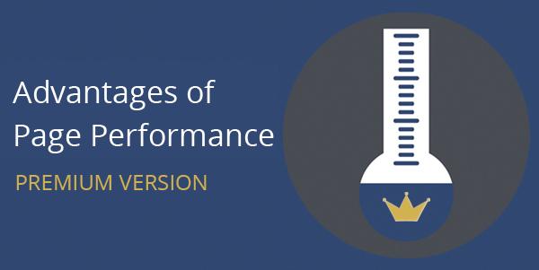 Advantages of Page Performance: Premium version
