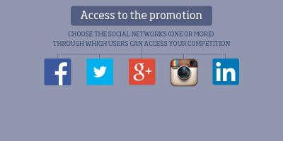 Access to the campaign from different social networks