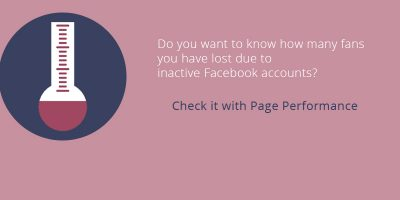 Do you want to know how many fans you have lost due to inactive Facebook accounts?