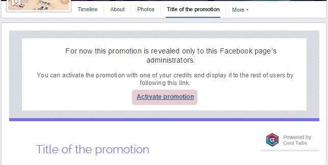 Active promotion