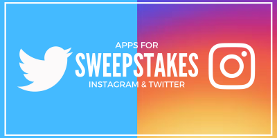 Apps for Instagram and Twitter Sweepstakes