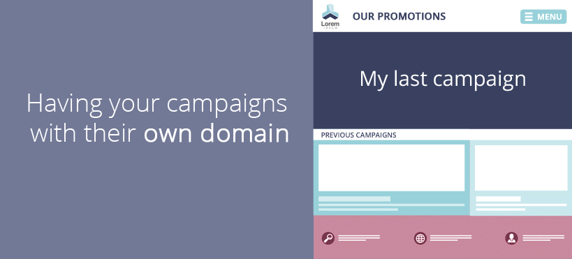 Having your campaigns with their own domain