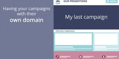 Having campaigns with their own domain