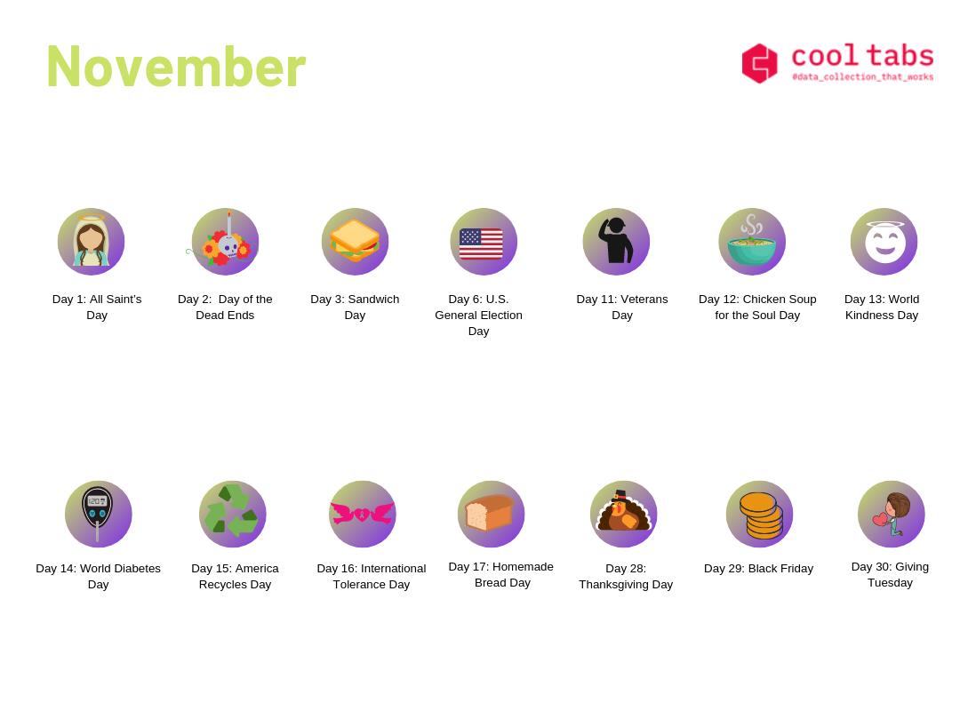 social media calendar november
