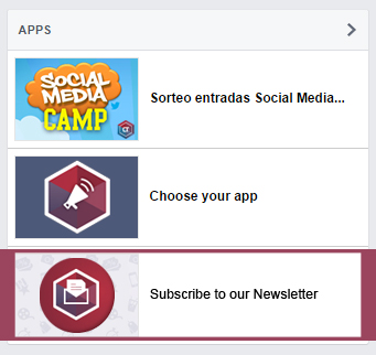 Newsletter subscription in Facebook