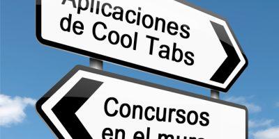 Aplicaciones de Cool Tabs versus concursos en el muro