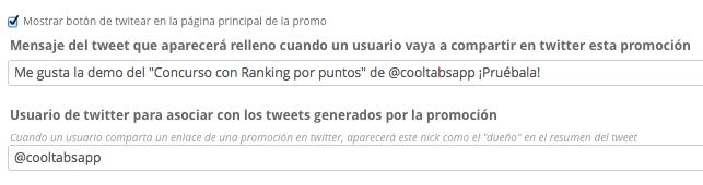 Integración con Twitter