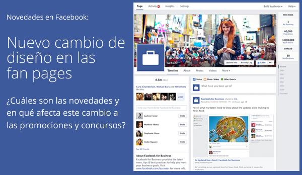 Nuevo diseño de Facebook para sus fan pages
