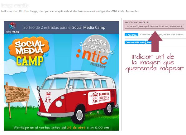 Image Mapify: Indicar url de la imagen que queremos mapear