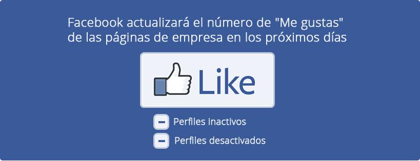 "Actualización de ""Me gustas"" de Facebook"