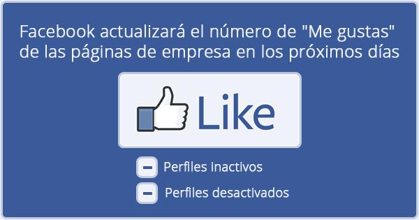 Facebook actualizará el número de Me gustas