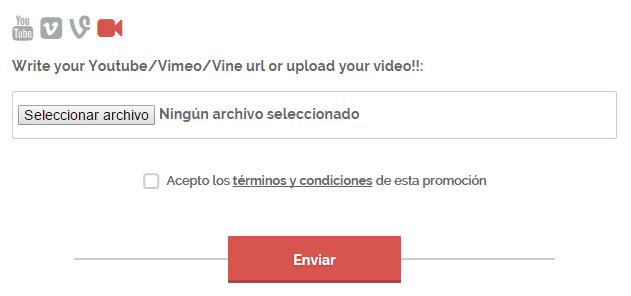 Formulario de participación: Subir vídeos