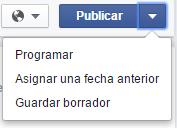 Programar una publicación en Facebook