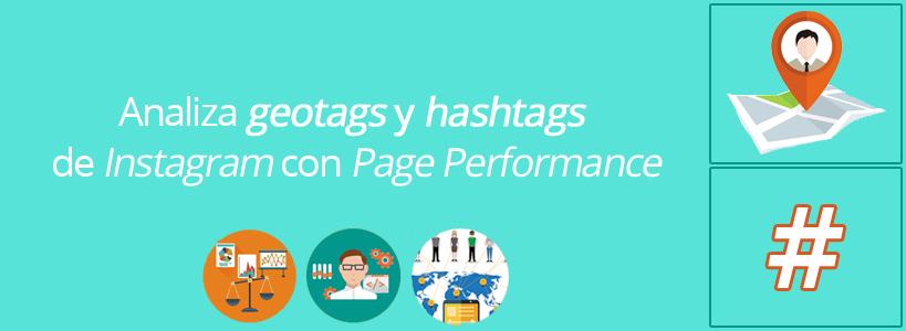 Analiza geotags y hashtags de Instagram con Page Performance