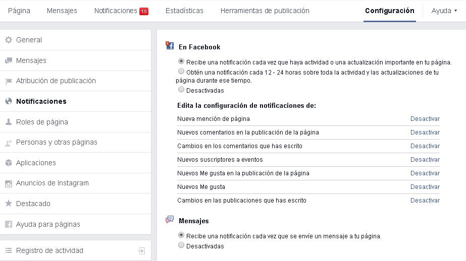 Monitorizar páginas de Facebook