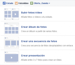 Alternar entre distintos tipos de publicaciones en Facebook