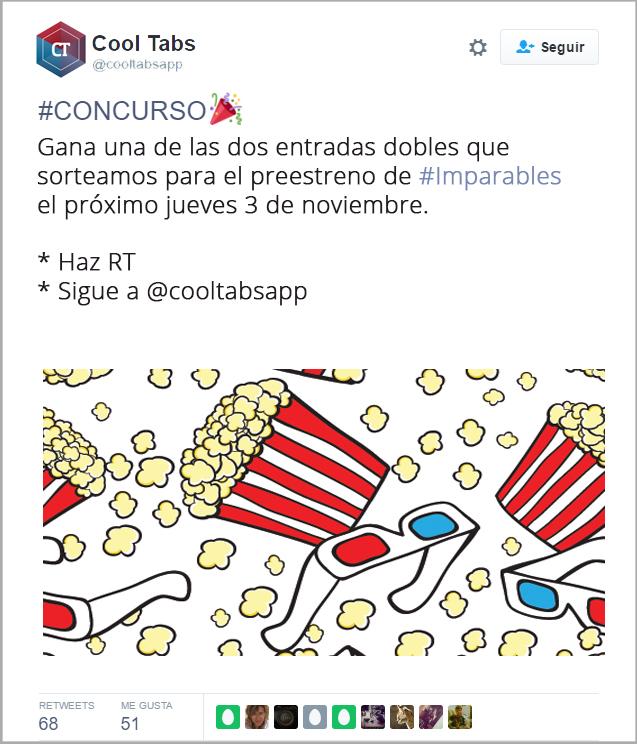 Crear un sorteo: Sorteo en Twitter