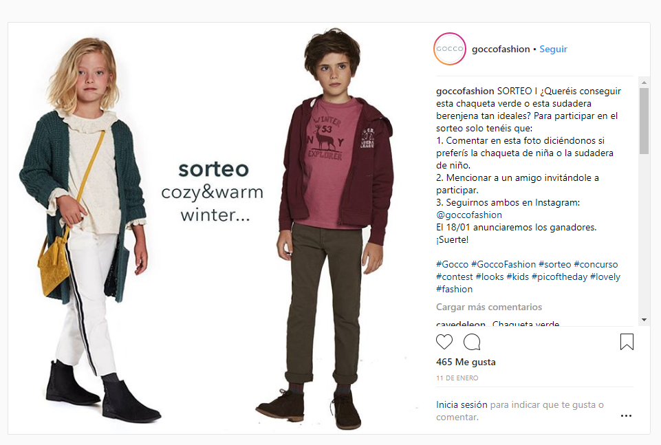 sorteos y promociones instagram