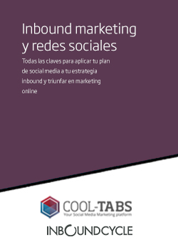 Descarga gratis la Guía definitiva de inbound marketing y redes sociales