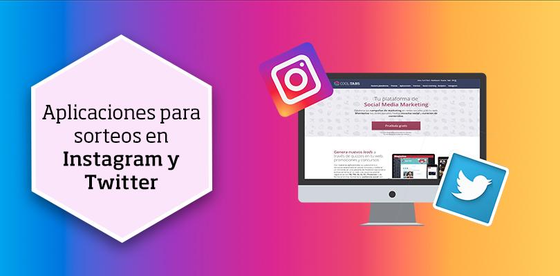 app sorteos en Instagram y Twitter