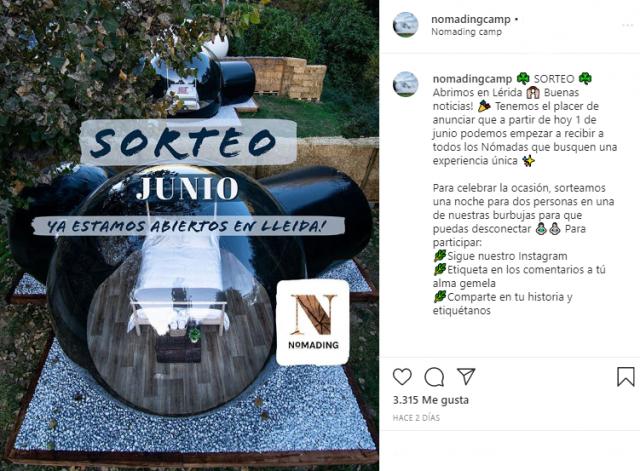 sorteo en Stories Instagram