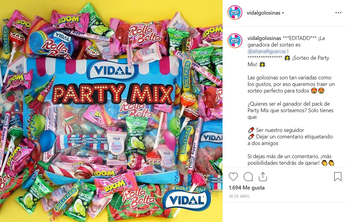 sorteos en redes sociales: sorteo instagram