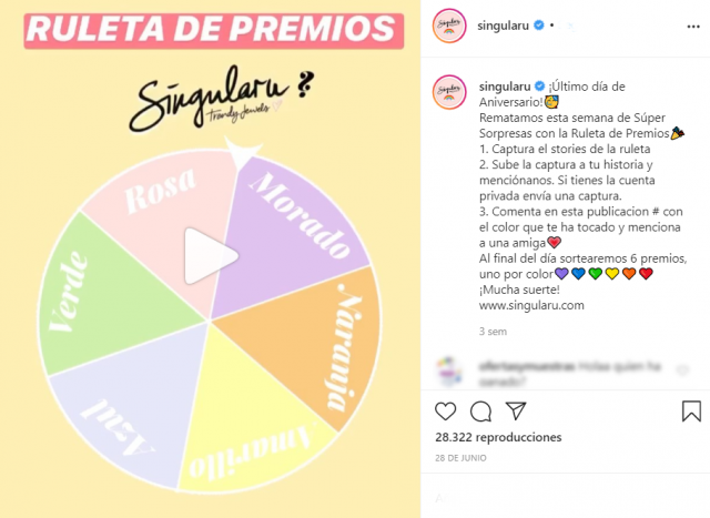 ruleta de premios instagram